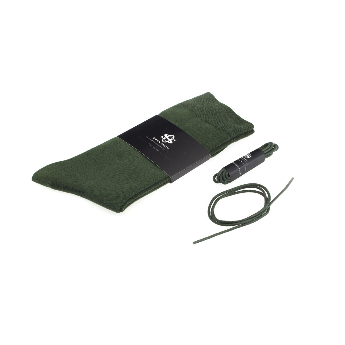 Owen Smith Sokken-Veter Set Dark Green 43-46 | 75 cm