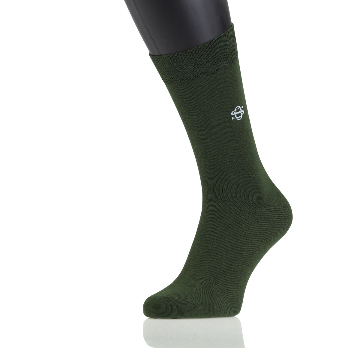Owen Smith Heren Sokken Dark Green 43-46 (2 paar)